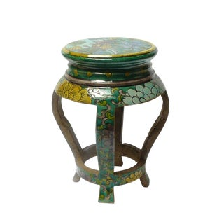 Round Shape Oriental Hand Made Ceramic Mini Display Stand Decor