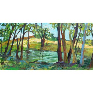 Martha Holden Summer Pond Oil Painting