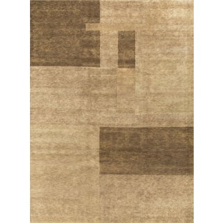 "Contemporary Hand-Knotted Wool Rug - 9'4"" x 12'"