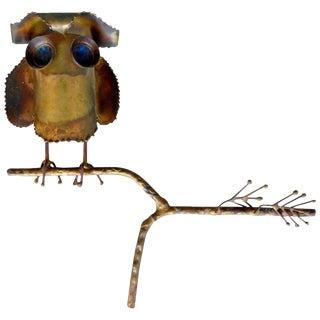 Curtis Jeré Brass Owl Sculpture
