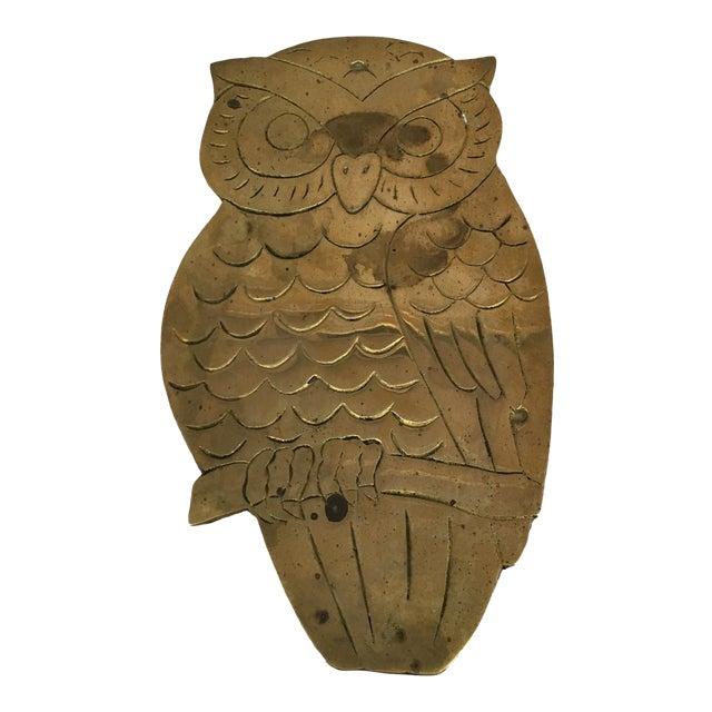 Vintage Brass Owl Trivet - Image 1 of 8