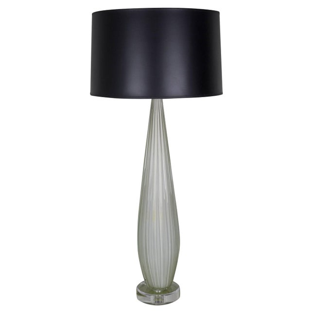 Image of Archimede Seguso Vintage Murano Glass Table Lamp