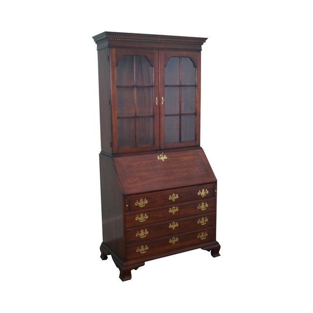 Statton Solid Cherry Chippendale Secretary Desk - Image 1 of 10