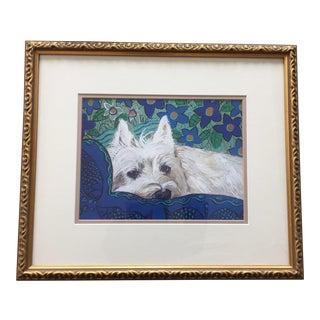 Westie Dog Print by Judy Henn