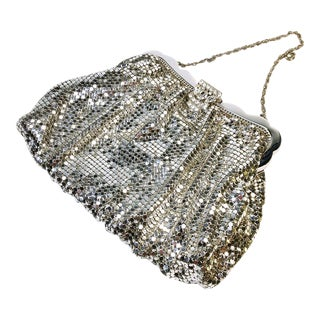 Whiting & Davis Silver Mesh Evening Bag