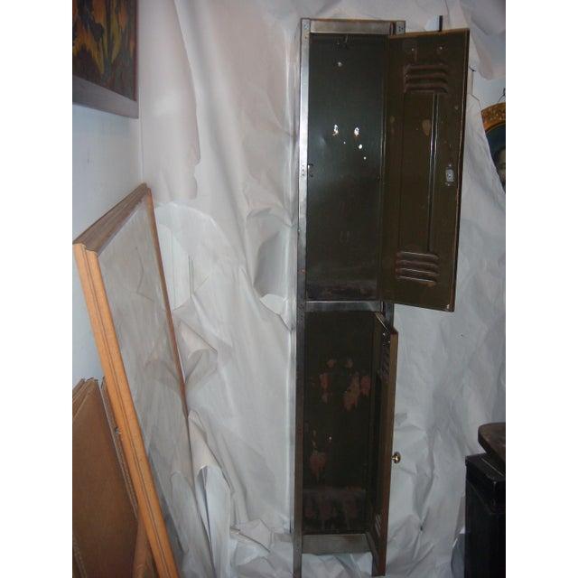 Old English Polished Metal Locker - Image 11 of 11
