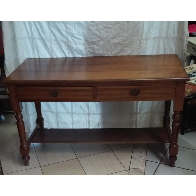 Image of Antique Library Table