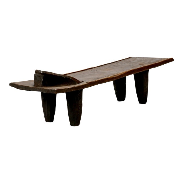 Ivory Coast Dark Wood Senufo Bench - Image 1 of 11