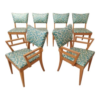 Paul Frankl Style Dining Chairs Set 6