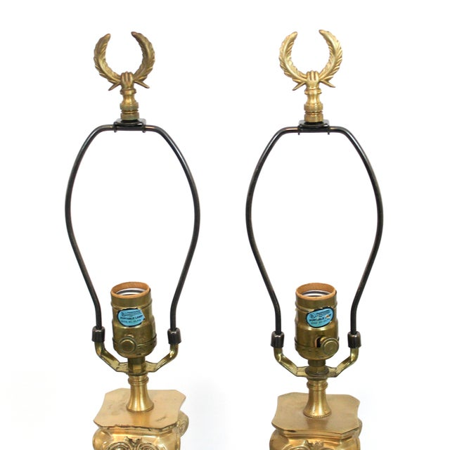 Hollywood Regency Neoclassical Column Lamps - Pair - Image 7 of 9