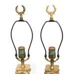 Image of Hollywood Regency Neoclassical Column Lamps - Pair
