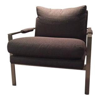 Crate & Barrel Brown Milo Chair