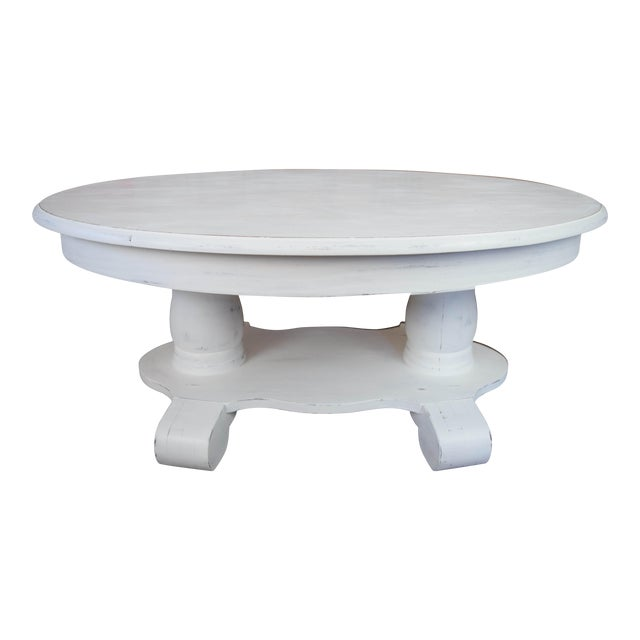 White Oval Coffee Table Chairish