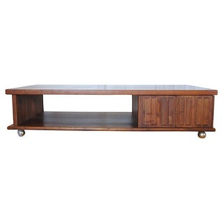 Mid-Century Coffee Table with Storage