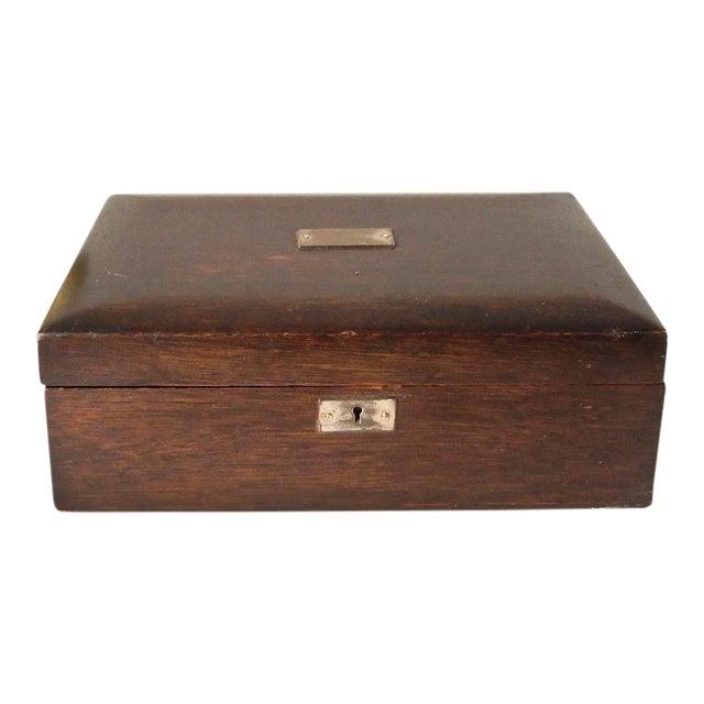 Vintage Wood Jewelry Trinket Box - Image 1 of 9