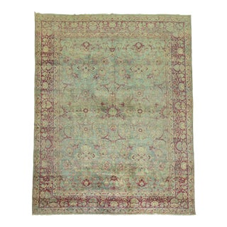 19th Century Shabby Chic Persian Rug - 8'8'' X 11'5''