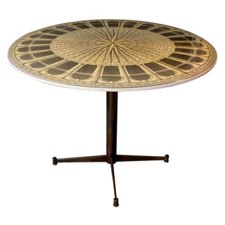 Fine Italian Mid-Century Circular Center Table by Piero Fornasetti