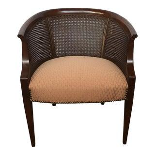 Cane-Back Barrel Chair