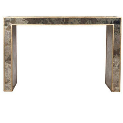 Antiqued & Mirrored Console Table - Image 2 of 9