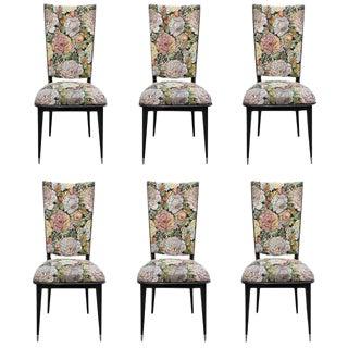 French Art Deco Mahogany Dining Chairs Circa 1940s - Set of 6