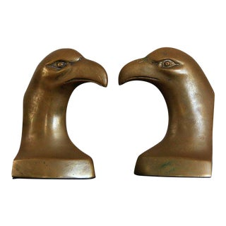 Brass Eagle Bookends- A Pair