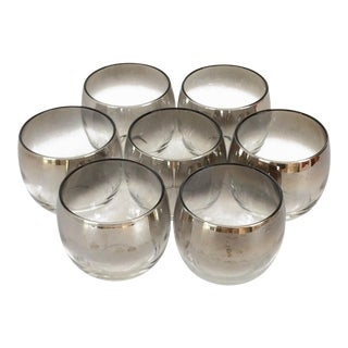 Dorothy Thorpe Silver Fade Bar Galsses - Set of 7 Roly-Poly Tumblers