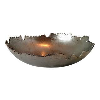 Organic Cast Aluminum Free Form Edge Bowl