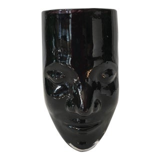 Bredemeier Art Glass Face Vase