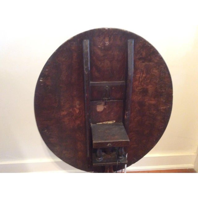 18th Century Dutch Tilt Top Table With Still Life - Image 4 of 11