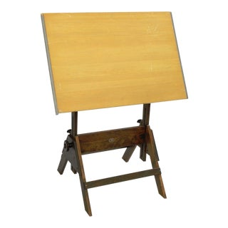 Vintage Anco-Bilt Wooden Adjustable Drafting Table