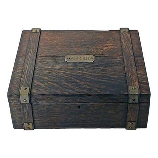 Antique Wooden Monogrammed Box
