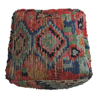 Stuffed Vintage Moroccan Wool Pouf