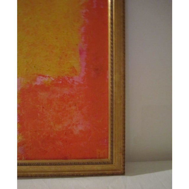 Abstract Painting Paris Signed Framed Acrylic - Image 7 of 11