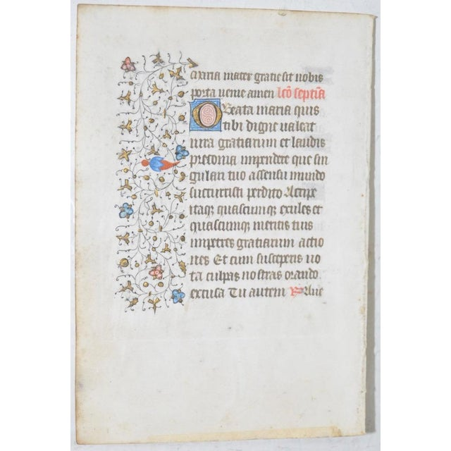 Illuminated Medieval Manuscript - Image 3 of 5