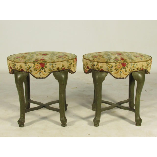 Yale Burge French Painted Stools - a Pair - Image 8 of 8