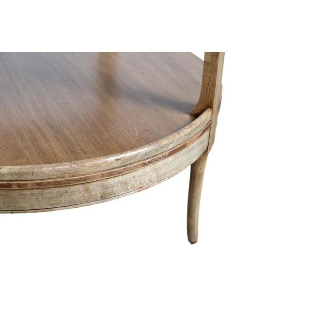 2-Tier Mahogany Table - Image 2 of 3