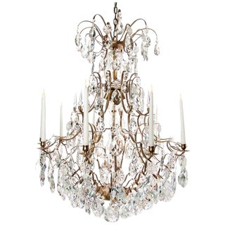 Baroque Cognac 10 Arm Almond Chandelier