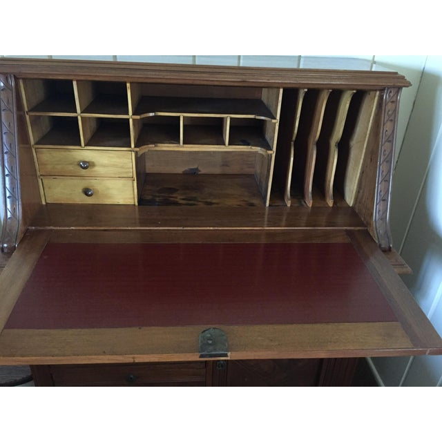 Antique Fall Front Secretary Desk - Image 3 of 6