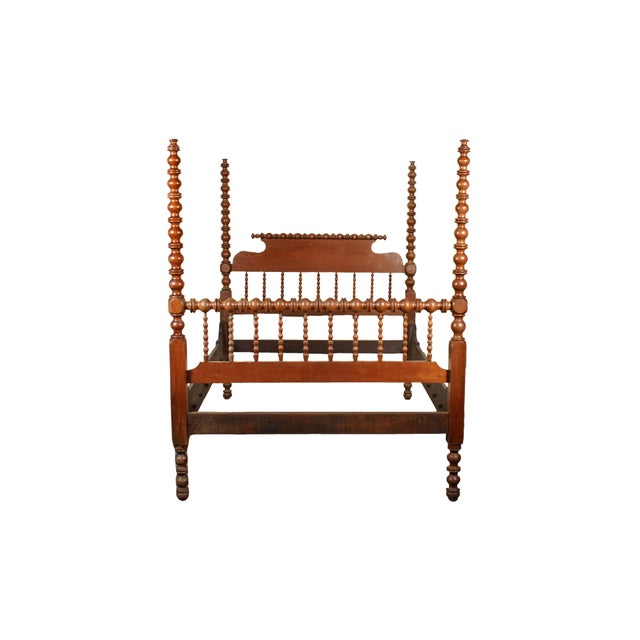 Tall Full Size Jenny Lind Spindle Bed - Image 2 of 4