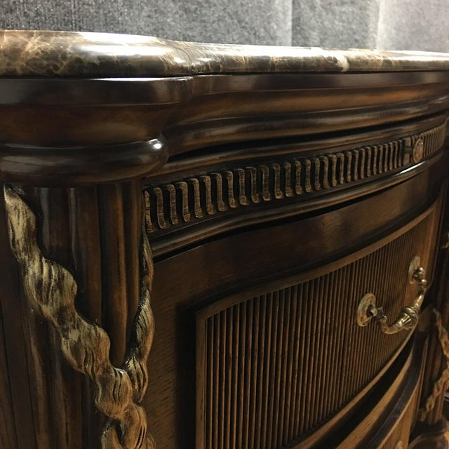 Philippe Langdon Marble Top Nightstands - Image 8 of 11