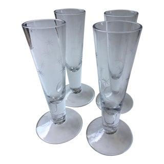Vintage Mid-Century Shot Glasses - Set of 4