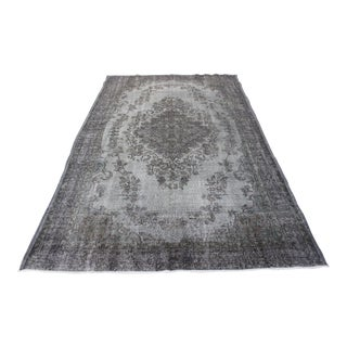 "Gray Turkish Overdyed Rug - 6'6"" X10'1"""