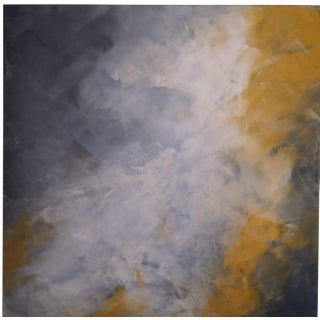 """Smokey Clouds"" Original Abstract Art by Kris Gould"