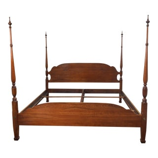 Harden Solid Cherry Traditional King Size Poster Bed