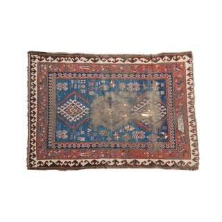 "Antique Caucasian Rug - 3'5"" x 4'11"""
