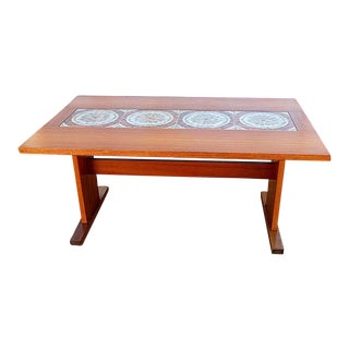 Mid-Century Danish Dining Table With Tiles