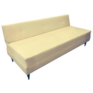Mid-Century Modern White Sofa Daybed