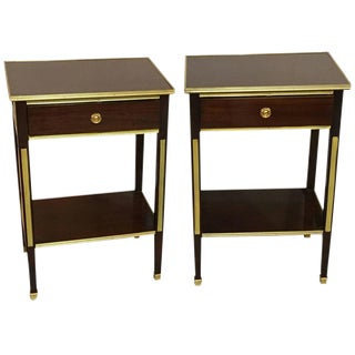 Russian Style Bronze Mounted End Tables - A Pair