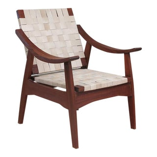 Izapa Warlnut & Leather Arm Chair