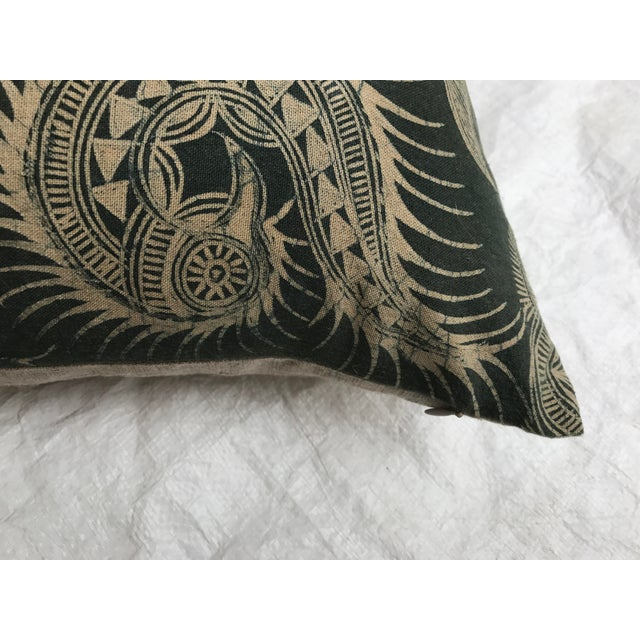 Image of Asian Serpent Gray Batik Pillows - A Pair